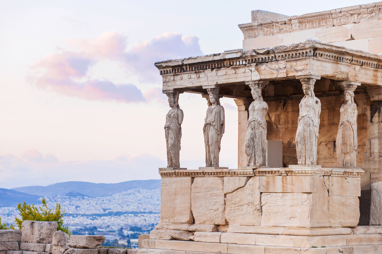 The Acropolis in the heart of Athens