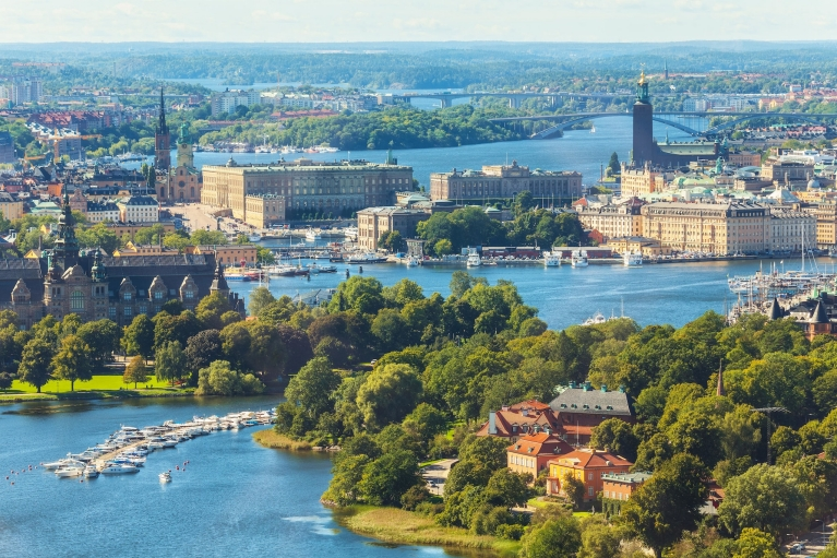 View on Stockholm's islands in summertime
