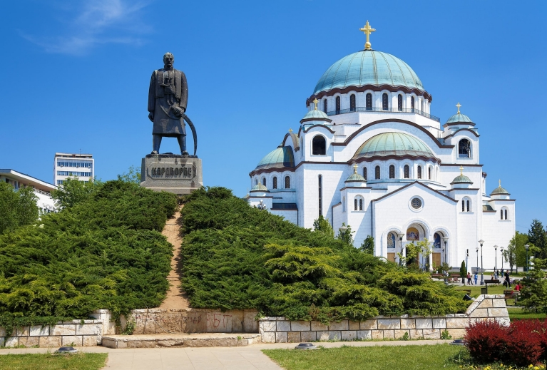 View of the Saint Sava cathedral in Belgrade