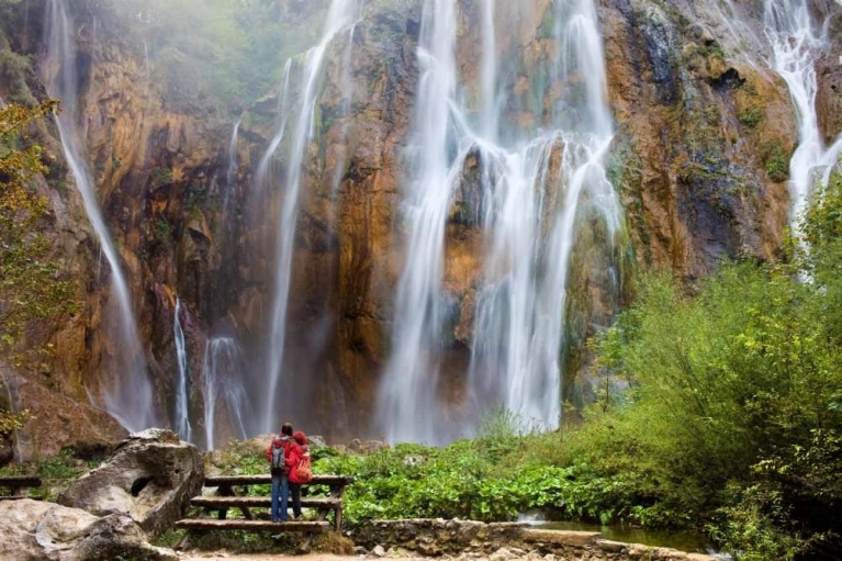 The Plitvice lakes and waterfalls in Croatia