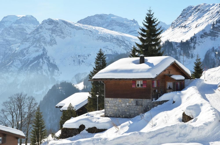 Ski to and from your own wooden cabin
