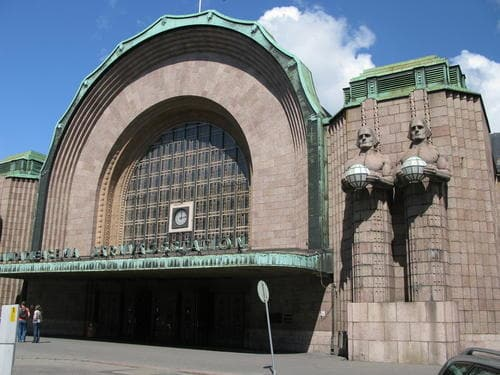 Helsinki train station entrance, Finland