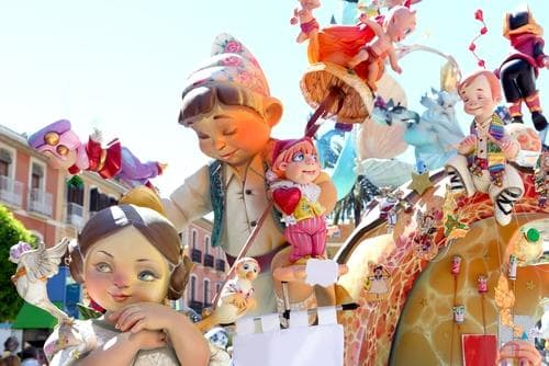 Interrailing in Spring | Las Fallas sculptures in Valencia, Spain