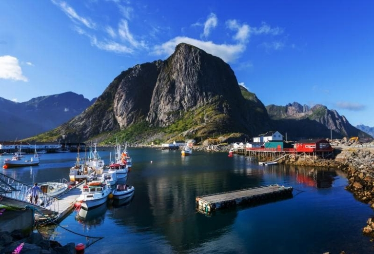 Lofoten island in summer