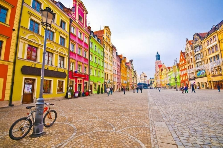 City centre of Wroclaw