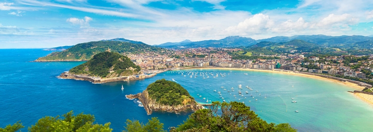 View on San Sebastian in northern Spain