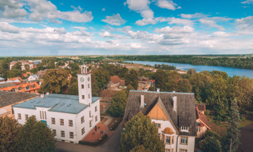 Aerial view above Viljandi