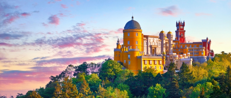 The colourful Pena Palace in Sintra, Portugal